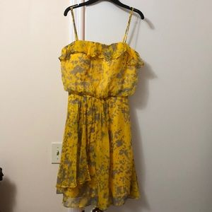 Beautiful Yellow Cocktail Sleeveless Dress